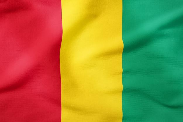 Bandeira nacional da guiné - símbolo patriótico de forma retangular