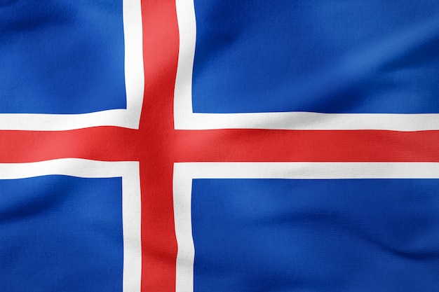 Bandeira nacional da islândia - símbolo patriótico de forma retangular