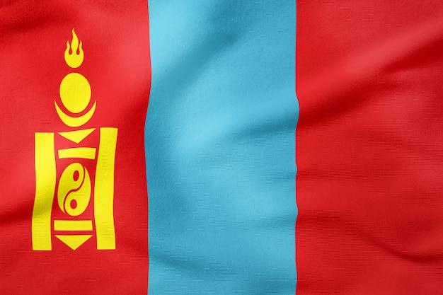 Bandeira nacional da mongólia - símbolo patriótico de forma retangular