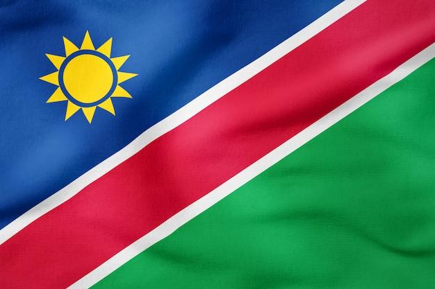 Bandeira nacional da namíbia - símbolo patriótico de forma retangular