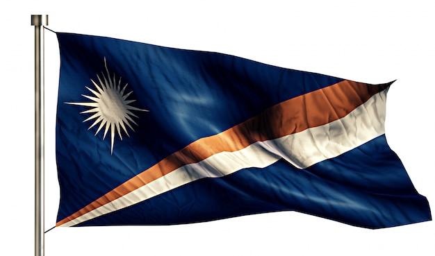 Bandeira nacional das ilhas marshall isolado fundo branco 3d