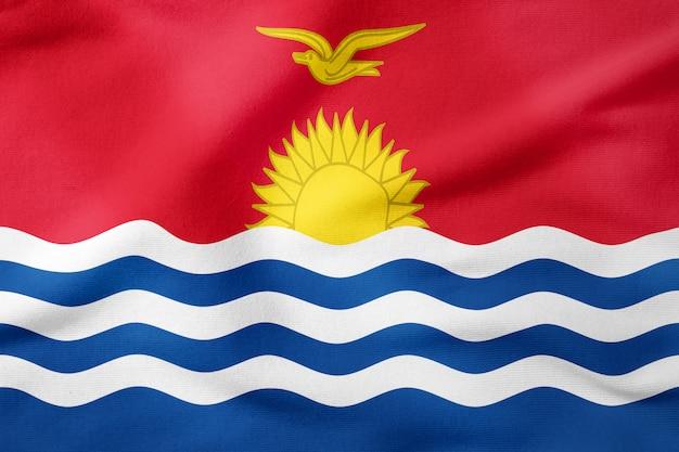Bandeira nacional de kiribati - símbolo patriótico de forma retangular