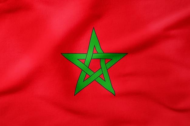 Bandeira nacional de marrocos - símbolo patriótico de forma retangular