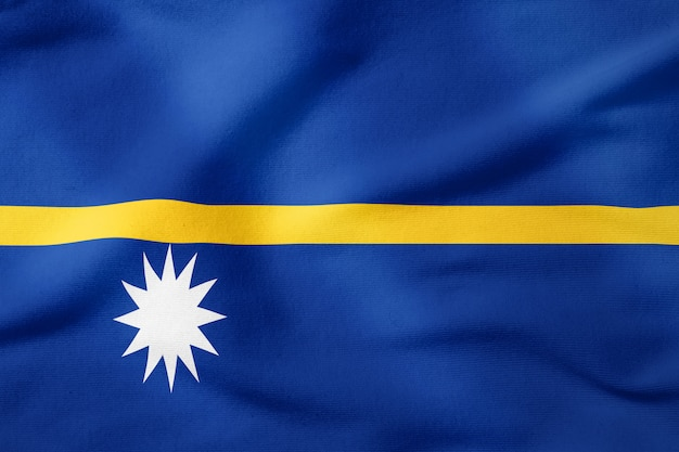 Bandeira nacional de nauru - símbolo patriótico de forma retangular