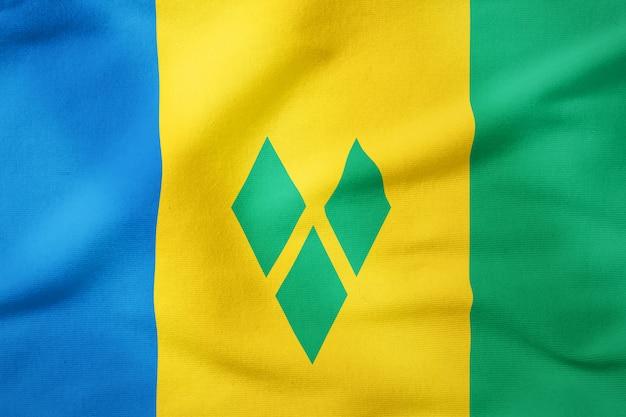Bandeira nacional de são vicente e granadinas - símbolo patriótico de forma retangular