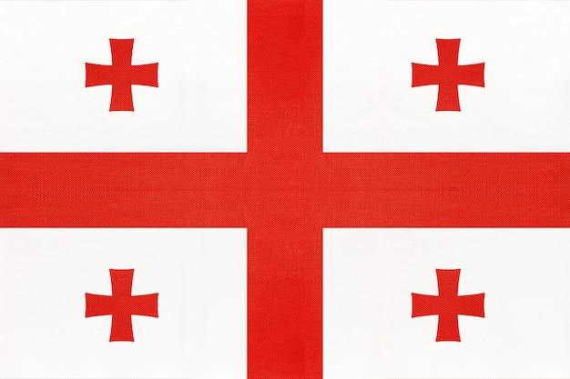 Bandeira nacional de tecido da geórgia
