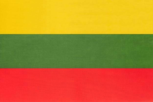 Bandeira nacional de tecido da lituânia