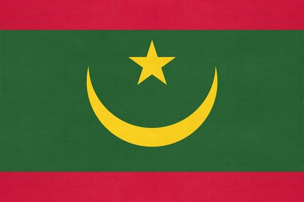 Bandeira nacional de tecido da mauritânia