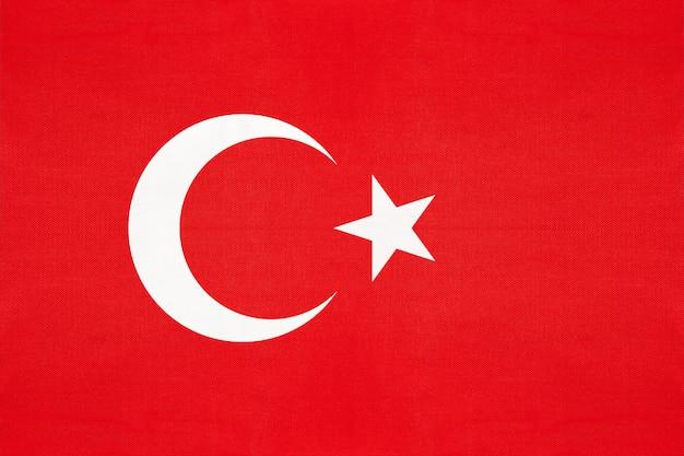 Bandeira nacional de tecido da turquia