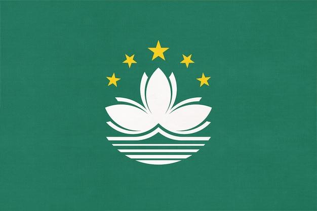 Bandeira nacional de tecido de macau