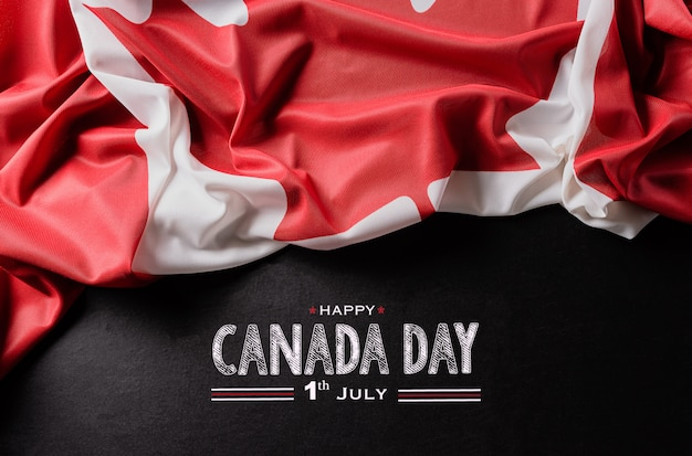Bandeira nacional do canadá para o dia do canadá