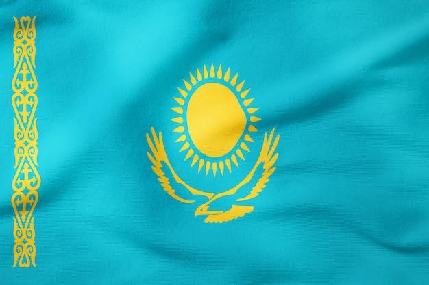 Bandeira nacional do cazaquistão - símbolo patriótico de forma retangular