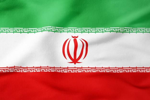 Bandeira nacional do irã - símbolo patriótico de forma retangular