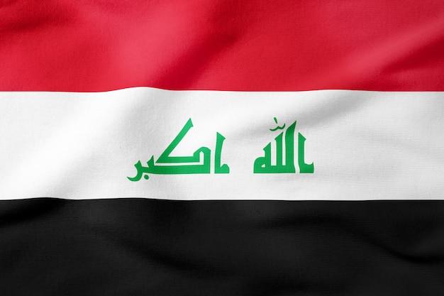 Bandeira nacional do iraque - símbolo patriótico de forma retangular
