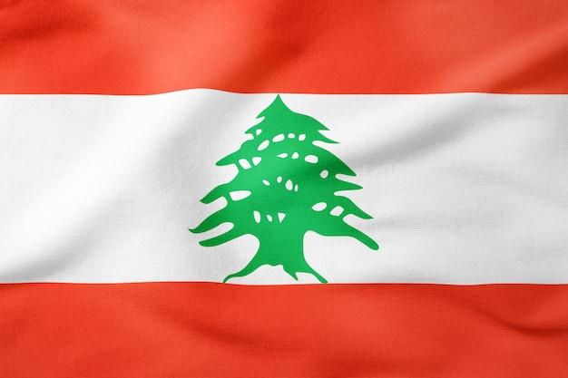 Bandeira nacional do líbano - símbolo patriótico de forma retangular