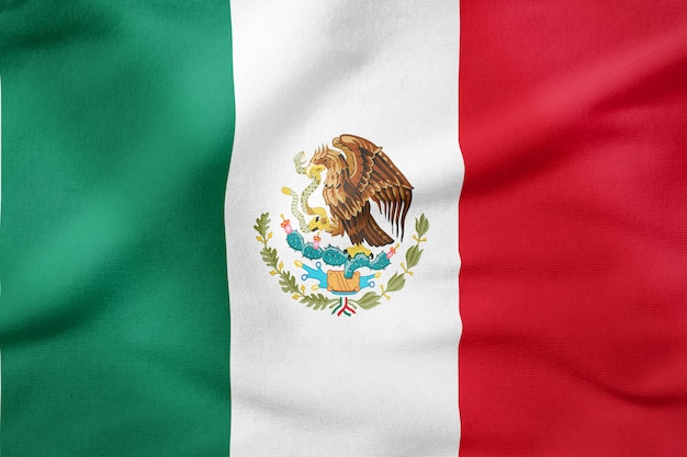 Bandeira nacional do méxico - símbolo patriótico de forma retangular