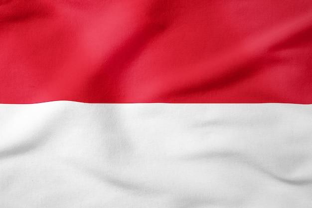 Bandeira nacional do mónaco - símbolo patriótico de forma retangular