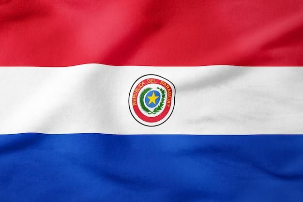 Bandeira nacional do paraguai - símbolo patriótico de forma retangular