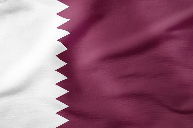 Bandeira nacional do qatar - símbolo patriótico de forma retangular