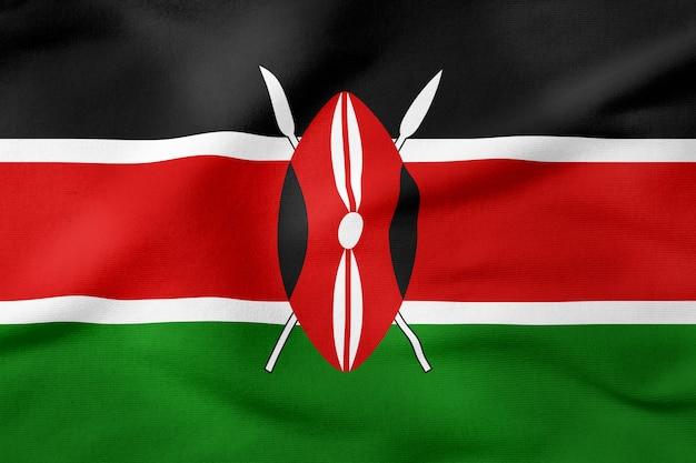 Bandeira nacional do quênia - símbolo patriótico de forma retangular