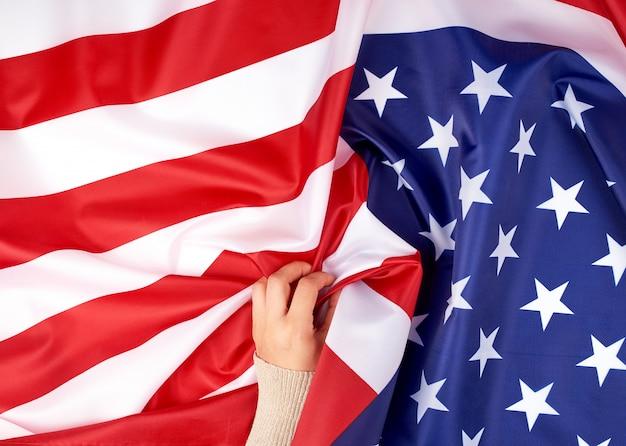 Bandeira nacional têxtil dos estados unidos da américa