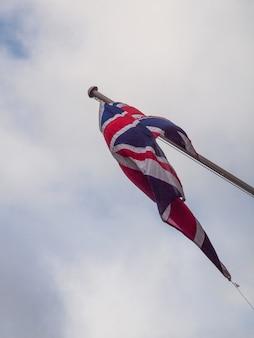 Bandeira nacional union jack do reino unido e reino unido
