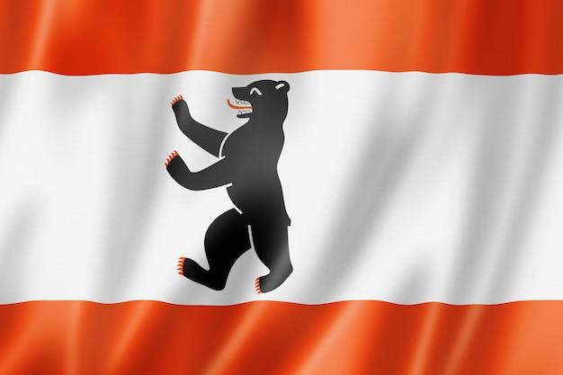 Bandeira ondulada da cidade de berlim