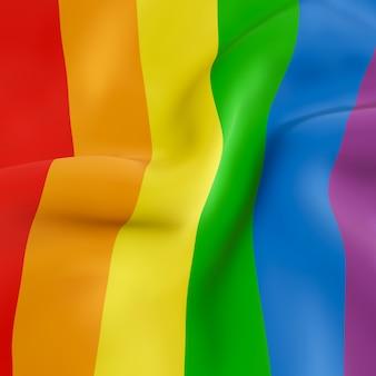 Bandeira ondulada do arco-íris