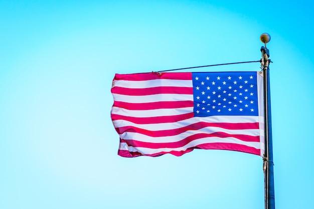 Bandeira, pólo, país, unidas, branca