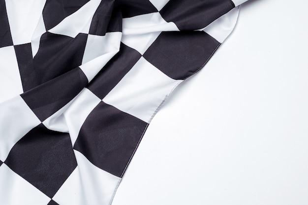 Bandeira quadriculada preto e branca. copie o espaço.