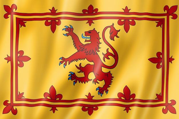 Bandeira real da escócia, reino unido