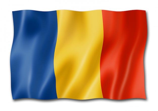 Bandeira romena isolada