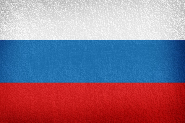 Bandeira russa pintada na parede