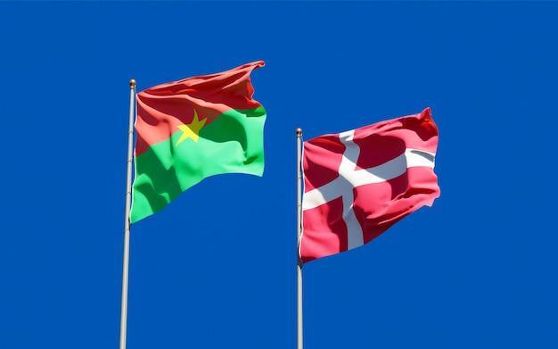 Bandeiras da dinamarca e burkina faso