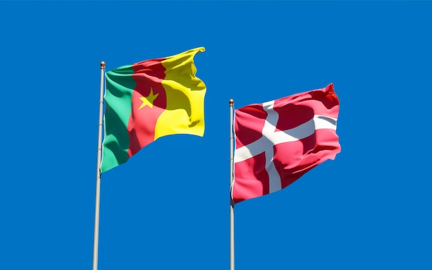 Bandeiras da dinamarca e camarões