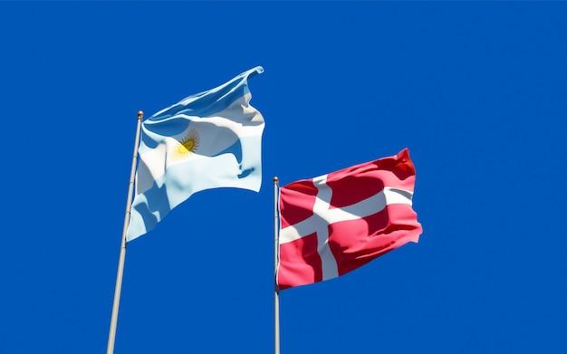 Bandeiras da dinamarca e dinamarca