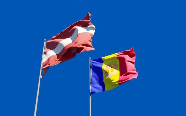 Bandeiras da letônia e andorra.