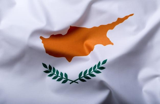 Bandeiras do chipre e da união europeia. bandeira de chipre e bandeira da ue. conceito de dinheiro da bandeira do mundo.