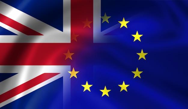 Bandeiras do reino unido e da união europeia