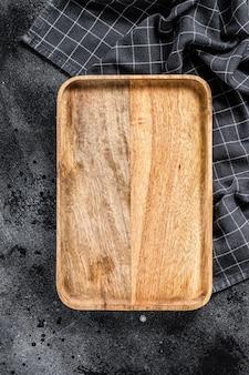 Bandeja de madeira antiga.