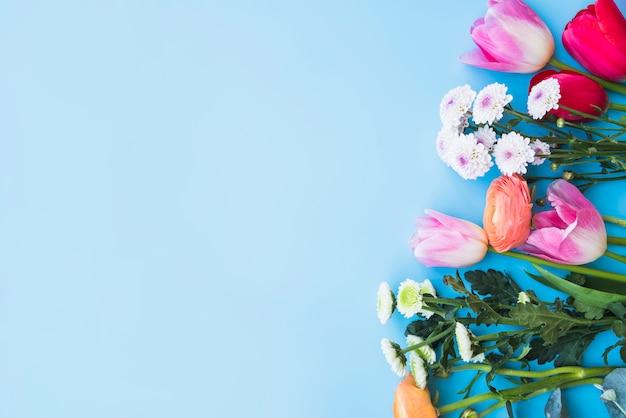 Bando de diferentes flores brilhantes