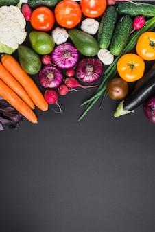 Bando de vegetais frescos