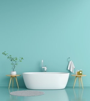 Banheira interior do banheiro