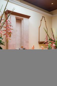 Banheira no quarto spa