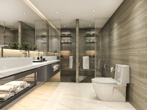 Banheiro clássico moderno, com decoração de azulejos de luxo
