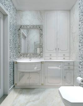Banheiro de estilo antigo