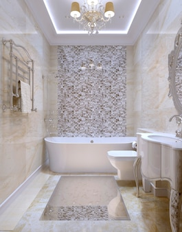 Banheiro de estilo clássico