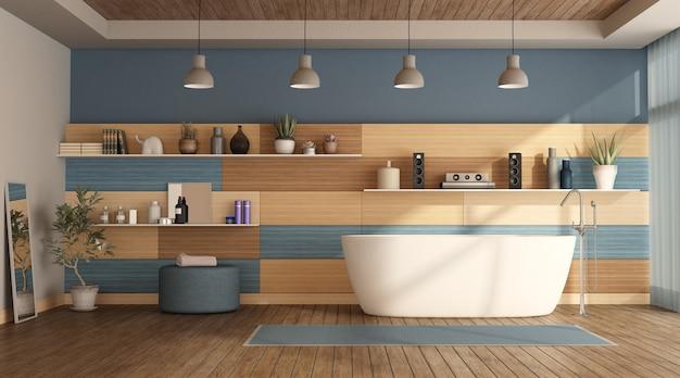Banheiro de madeira moderno