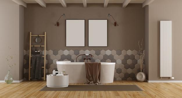 Banheiro elegante com banheira