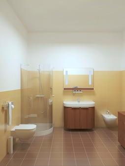 Banheiro interno em estilo contemporâneo